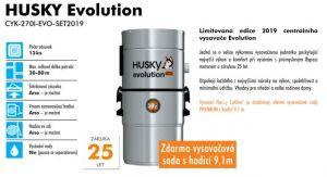CENTRÁLNÍ VYSAVAČ HUSKY Evolution+ Premium 9,1m a Nerez štěrbina
