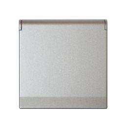 Kryt zásuvky FUTURE - Hliníková Stříbrná