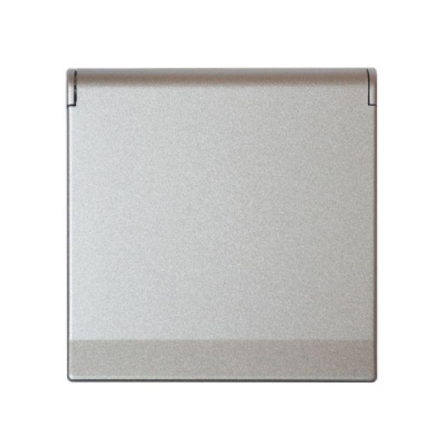Kryt zásuvky FUTURE - Hliníková Stříbrná ABB