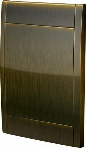 Kryt zásuvky Hadice ve zdi Bronz
