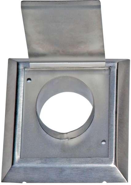 Nerezový kryt výfuku vzduchu 50mm pro centrální vysavač