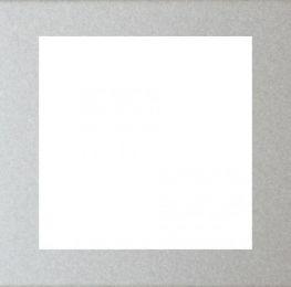 Rámeček zásuvky FUTURE - Hliníková Stříbrná