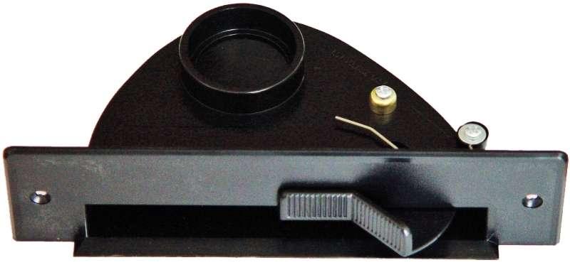 Vac pan - štěrbinová zásuvka černá do kuchyňské linky pro centrální vysavače Husky