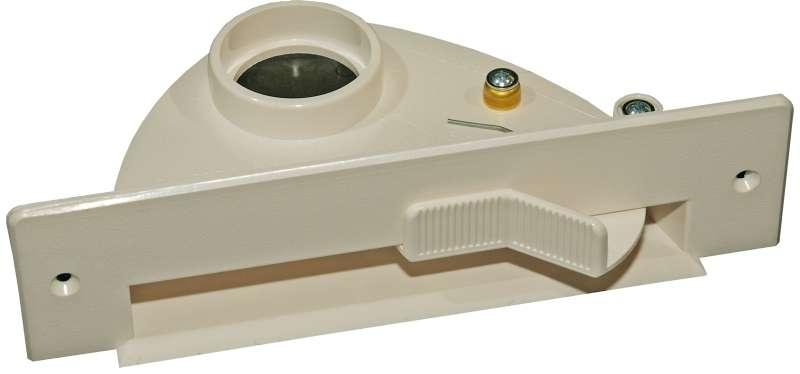 Vac pan - štěrbinová zásuvka do kuchyňské linky slonová kost pro centrální vysavače Husky