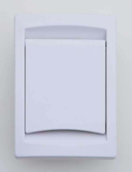 Vysavačová zásuvka Collection bílá- obdelníková, kanadský typ Husky