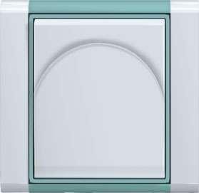 Zásuvka Time bílá/ledově zelená ABB